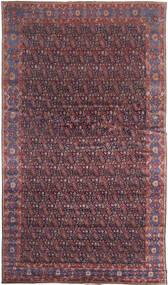 Senneh Tæppe 368X639 Ægte Orientalsk Håndknyttet Mørkebrun/Lilla Stort (Uld, Persien/Iran)