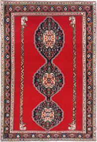 Ghashghai Tæppe 193X285 Ægte Orientalsk Håndknyttet Rød/Mørkegrå (Uld, Persien/Iran)
