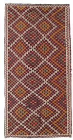 Kelim Semiantik Tyrkiet Tæppe 154X303 Ægte Orientalsk Håndvævet Lysebrun/Mørkerød (Uld, Tyrkiet)