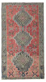 Kelim Semiantik Tyrkiet Tæppe 180X320 Ægte Orientalsk Håndvævet Mørkegrå/Rust (Uld, Tyrkiet)