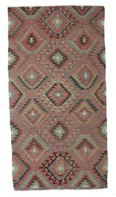 Kelim Semiantik Tyrkiet Tæppe 159X304 Ægte Orientalsk Håndvævet Mørkegrå/Brun (Uld, Tyrkiet)