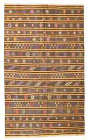 Kelim Semiantik Tyrkiet Tæppe 165X270 Ægte Orientalsk Håndvævet Brun/Lysebrun (Uld, Tyrkiet)