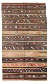 Kelim Semiantik Tyrkiet Tæppe 166X290 Ægte Orientalsk Håndvævet Mørkerød/Mørkebrun (Uld, Tyrkiet)