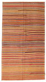 Kelim Semiantik Tyrkiet Tæppe 163X295 Ægte Orientalsk Håndvævet Lysebrun/Rød (Uld, Tyrkiet)