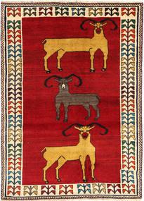 Ghashghai Tæppe 128X180 Ægte Orientalsk Håndknyttet Rød/Beige (Uld, Persien/Iran)