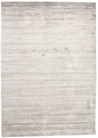 Bambus Silke Loom - Warm Grå Tæppe 160X230 Moderne Lysegrå/Hvid/Creme ( Indien)