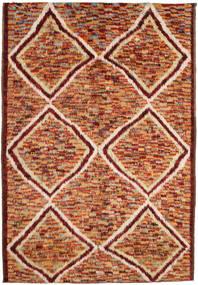 Barchi/Moroccan Berber Tæppe 197X292 Ægte Moderne Håndknyttet Mørkerød/Rød (Uld, Afghanistan)