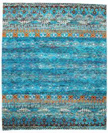 Quito - Turquoise Tæppe 240X290 Ægte Moderne Håndknyttet Turkis Blå/Blå (Silke, Indien)