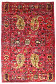 Vega Sari Silke Tæppe 200X300 Ægte Moderne Håndknyttet Rød/Rust (Silke, Indien)