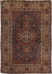 Isfahan Antik Tæppe 147X215 Ægte Orientalsk Håndknyttet Mørkerød/Mørkebrun (Uld, Persien/Iran)
