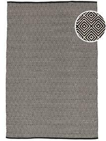 Diamond - Sort Tæppe 140X200 Ægte Moderne Håndvævet Lysegrå/Mørkegrå (Bomuld, Indien)