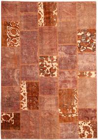Patchwork Tæppe 166X243 Ægte Moderne Håndknyttet Rød/Mørkerød (Uld, Persien/Iran)