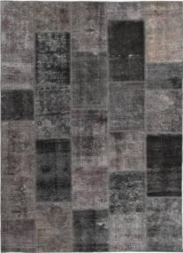 Patchwork Tæppe 165X237 Ægte Moderne Håndknyttet Mørkegrå/Brun (Uld, Persien/Iran)