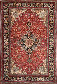 Tabriz Patina Tæppe 205X305 Ægte Orientalsk Håndknyttet Mørkerød/Mørkebrun (Uld, Persien/Iran)