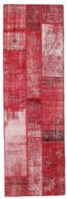 Patchwork Tæppe 81X252 Ægte Moderne Håndknyttet Tæppeløber Rød/Rosa (Uld, Tyrkiet)