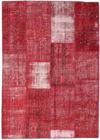 Patchwork Tæppe 160X226 Ægte Moderne Håndknyttet Rød/Rust (Uld, Tyrkiet)