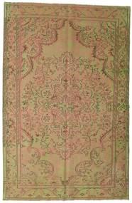 Colored Vintage Tæppe 183X284 Ægte Moderne Håndknyttet Lysebrun/Lysgrøn (Uld, Tyrkiet)