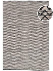Chevron Waves - Mørk Tæppe 160X230 Ægte Moderne Håndvævet Lysegrå/Mørkegrå/Beige ( Indien)