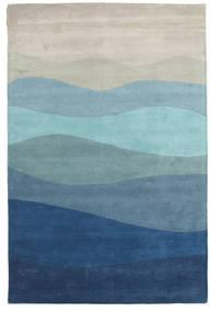 Feeling Handtufted - Blå Tæppe 300X400 Moderne Lyseblå/Mørkeblå/Lysegrå Stort (Uld, Indien)