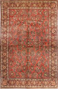 Sarough American Tæppe 310X485 Ægte Orientalsk Håndknyttet Mørkebrun/Rust Stort (Uld, Persien/Iran)