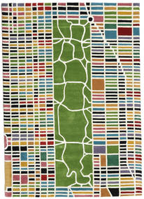 New-York/Manhattan Handtufted - Multi Tæppe 160X230 Moderne Beige/Mørkegrøn (Uld, Indien)