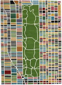 New-York/Manhattan Handtufted - Multi Tæppe 200X300 Moderne Beige/Olivengrøn (Uld, Indien)