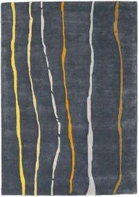 Flaws Handtufted - Grå Tæppe 140X200 Moderne Mørkegrå/Mørkeblå (Uld, Indien)