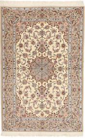 Isfahan Silketrend Davudi Tæppe 130X202 Ægte Orientalsk Håndknyttet Beige/Lysegrå (Uld/Silke, Persien/Iran)