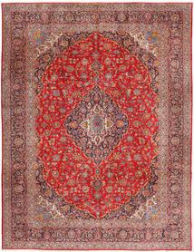 Keshan Tæppe 315X420 Ægte Orientalsk Håndknyttet Mørkerød/Rust Stort (Uld, Persien/Iran)