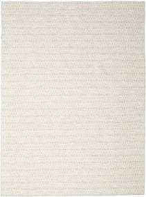 Kelim Long Stitch - Beige Tæppe 290X390 Ægte Moderne Håndvævet Lysegrå/Beige Stort (Uld, Indien)