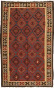 Kelim Maimane Tæppe 154X249 Ægte Orientalsk Håndvævet Mørkerød/Mørkebrun (Uld, Afghanistan)