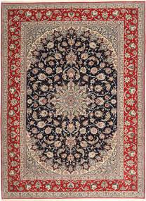 Isfahan Silketrend Tæppe 265X363 Ægte Orientalsk Håndknyttet Lysegrå/Mørkerød Stort (Uld/Silke, Persien/Iran)