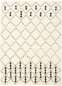 Berber Indisk - Off-Hvid/Sort Tæppe 210X290 Ægte Moderne Håndknyttet Beige/Hvid/Creme (Uld, Indien)
