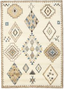 Berber Indisk - Råhvid/Beige Tæppe 160X230 Ægte Moderne Håndknyttet Beige/Lysebrun (Uld, Indien)