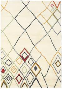 Berber Indisk - Off-Hvid/Multi Tæppe 160X230 Ægte Moderne Håndknyttet Beige/Hvid/Creme (Uld, Indien)