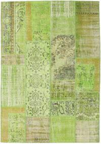 Patchwork Tæppe 161X233 Ægte Moderne Håndknyttet Lysgrøn (Uld, Tyrkiet)