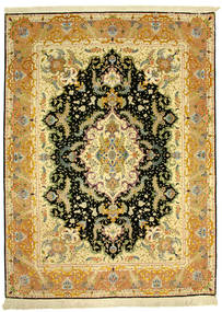 Tabriz 70Raj Silke Varp Tæppe 152X205 Ægte Orientalsk Håndknyttet (Uld/Silke, Persien/Iran)