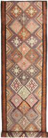 Kelim Fars Tæppe 158X830 Ægte Orientalsk Håndvævet Tæppeløber Mørkerød/Lysebrun (Uld, Persien/Iran)