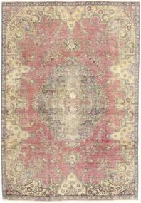 Colored Vintage Tæppe 184X264 Ægte Moderne Håndknyttet Beige/Lysegrå (Uld, Persien/Iran)