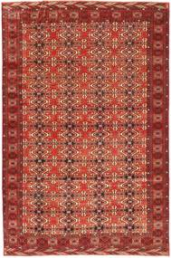 Turkaman Patina Tæppe 210X316 Ægte Orientalsk Håndknyttet Mørkerød (Uld, Persien/Iran)