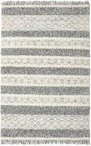 Kelim Berber Ibiza - Sort Og White Mix Tæppe 200X300 Ægte Moderne Håndvævet Lysegrå/Mørkegrå/Mørk Beige (Uld, Indien)