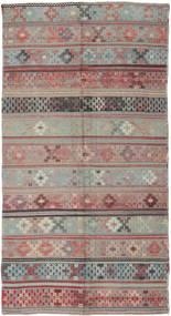 Kelim Tyrkiet Tæppe 146X288 Ægte Orientalsk Håndvævet Mørkegrå/Lysegrå (Uld, Tyrkiet)