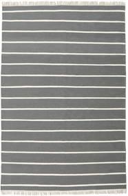 Dorri Stripe - Grå Tæppe 200X300 Ægte Moderne Håndvævet Mørkegrå/Mørkegrøn (Uld, Indien)