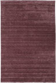 Handloom Fringes - Vinrød Tæppe 200X300 Moderne Mørkelilla/Mørkebrun (Uld, Indien)
