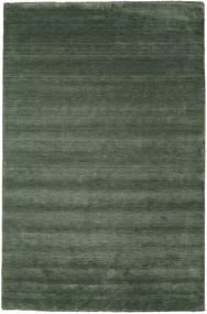 Handloom Fringes - Skovgrøn Tæppe 300X400 Moderne Olivengrøn/Mørkegrøn Stort (Uld, Indien)