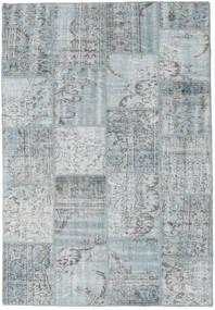 Patchwork Tæppe 160X230 Ægte Moderne Håndknyttet Lysegrå (Uld, Tyrkiet)
