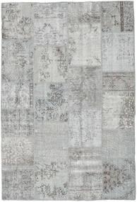 Patchwork Tæppe 159X234 Ægte Moderne Håndknyttet Lysegrå/Turkis Blå (Uld, Tyrkiet)