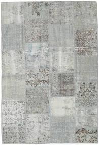 Patchwork Tæppe 157X230 Ægte Moderne Håndknyttet Lysegrå/Turkis Blå (Uld, Tyrkiet)