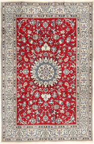 Nain Tæppe 196X297 Ægte Orientalsk Håndknyttet Lysegrå/Brun (Uld, Persien/Iran)
