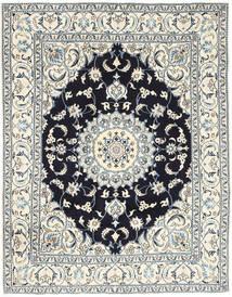 Nain Tæppe 193X250 Ægte Orientalsk Håndknyttet Lysegrå/Beige (Uld, Persien/Iran)